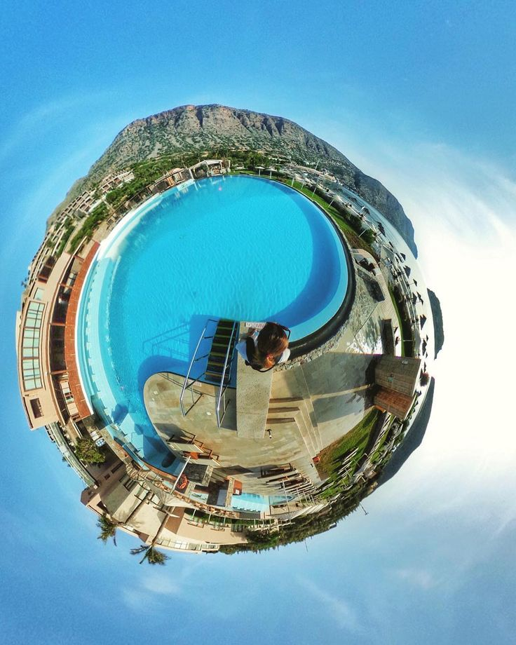 Pool or sea? Easy choice: both!!  #360journeyofblue #journeygreece #bluepalaceresort #visitcrete #theta360official #my360world #mytravel #littleplanet
