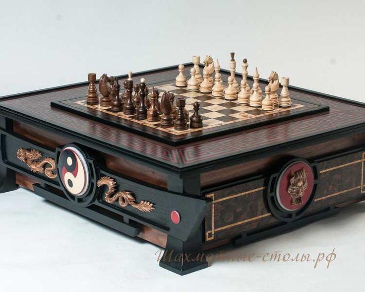 Шахматный стол «Династия» эксклюзивный (шахматы/нарды/шашки)