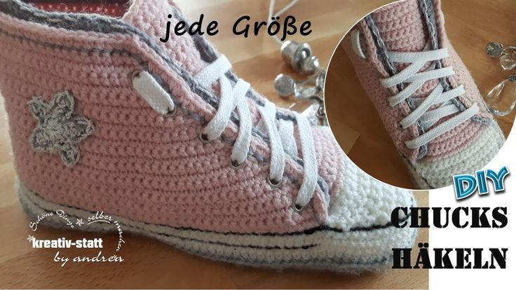 DIY Crochet - Sneakers in Any Size as Slippers - Pattern [How to]