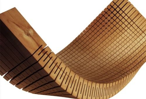 gregmelander: BENDING WOOD A cool way to cut wood so it is flexible. via Pinterest