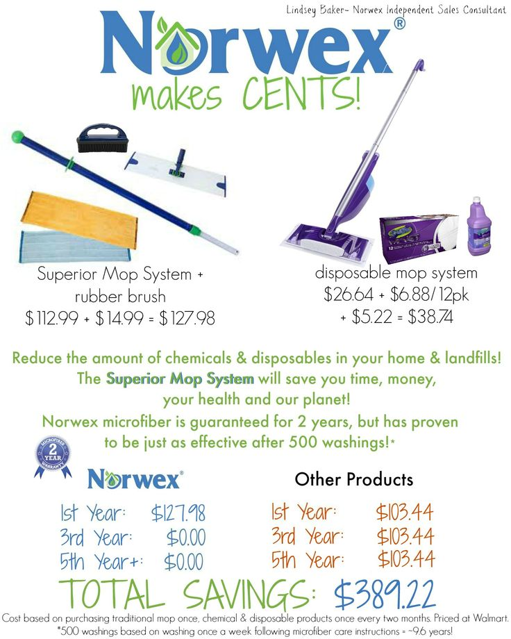 Using a Norwex Superior Mop System makes CENTS over a traditional disposable mop!! https://www.facebook.com/lindseybaker.greenliving/