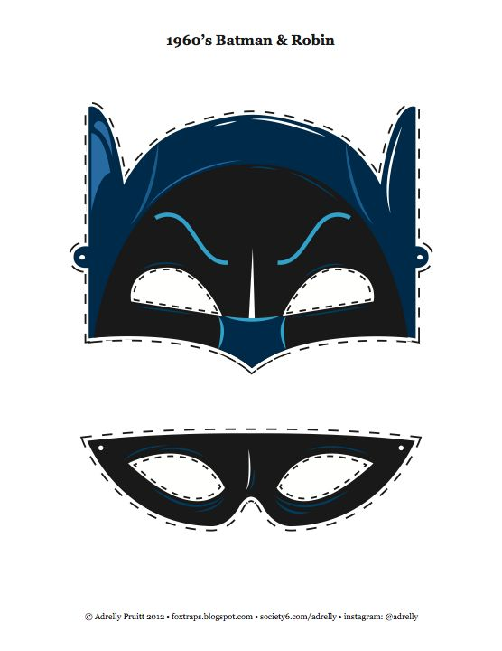 1960's Insp. Kid's Batman & Robin Mask - I designed this for my little guy and thought it would be fun to share.    #diy #batman #robin #60s #nerd