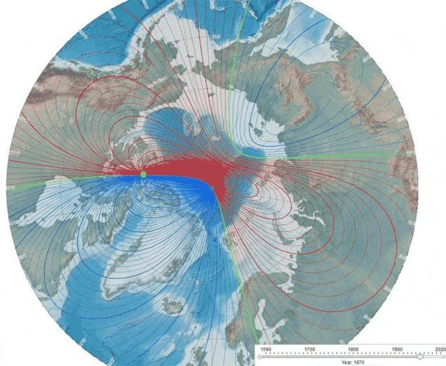 Scientists believe that Earth's magnetic poles are about to flip, because Earth's magnetic field has been getting weaker.  The Earth's magnetic field that protecting our planet like a giant shield from dangerous solar