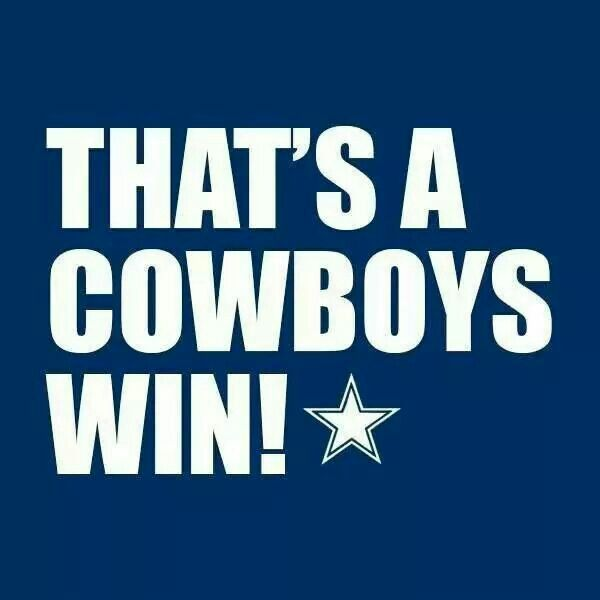 09.14.14 - Nobody appreciates a win (these days), more than a cowboys fan.