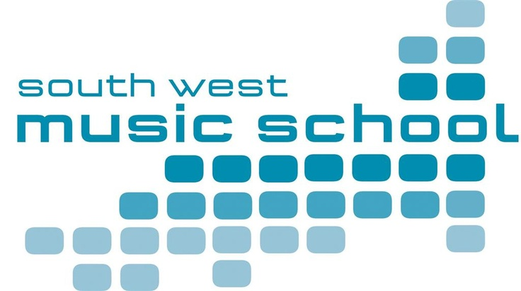 South west music school  Particularly chose this for the typeface, easy to read, clean lines but with a young feel. Use of simple shapes and 3 shades of blue make this contemporary and fun
