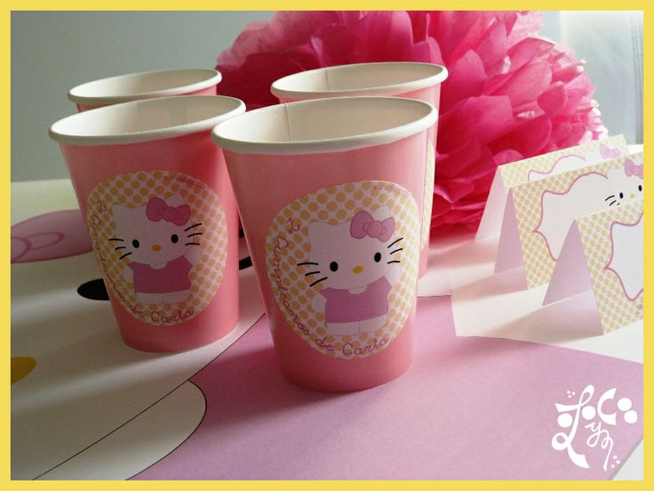 Vasos personalizados Hello kitty