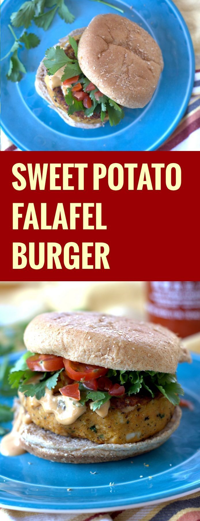 Sweet Potato Falafel Burgers