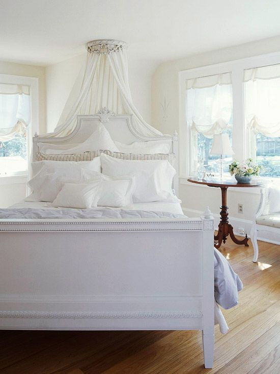 Oh soo pretty :) #white #bedroom