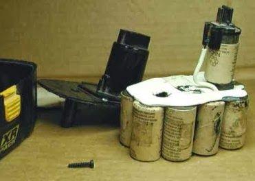 inside of a dewalt drill battery, battery pack, power tool, xr battery