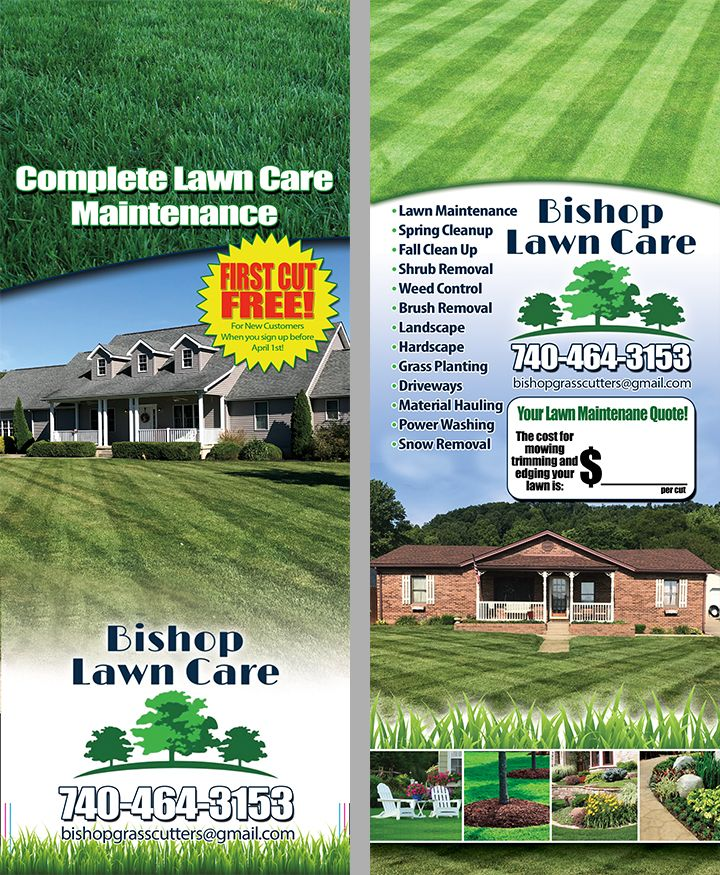Door Hanger Lawn Care Landscaping Lawn Care Lawn Maintenance Lawn