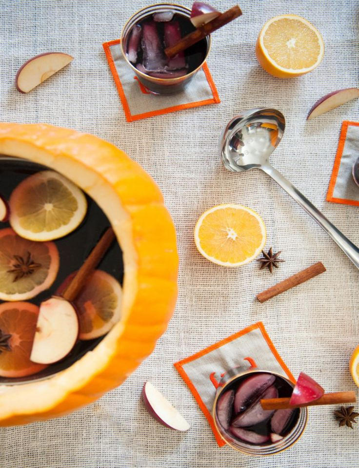 Festive Fall Sangria   Fall sangria, Punch and Style
