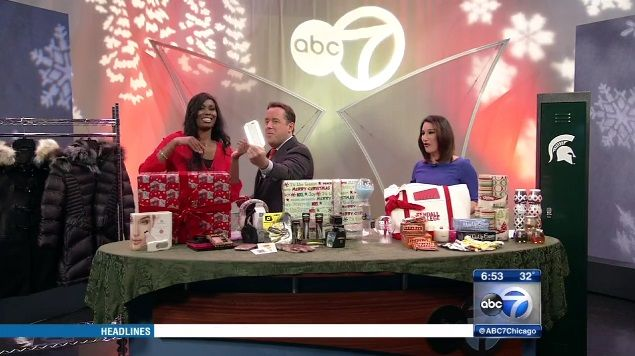 """We were featured on ABC 7 Chicago with Nekia Nichelle in the """"Last-Minute Holiday Gift Ideas"""" segment! Click to watch the segment!"""