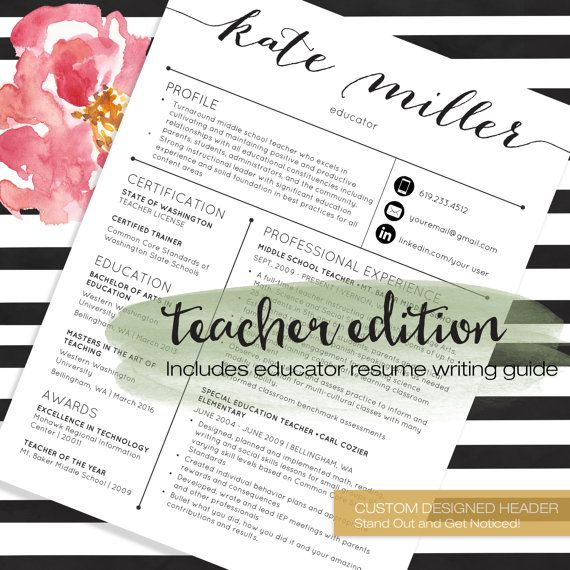 teacher resume templates are designed specifically with educators in mind all templates are are loaded