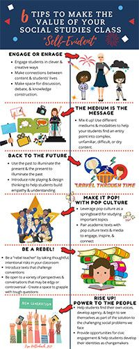 Six Tips to Make the Value of Your Social Studies Class Self-Evident