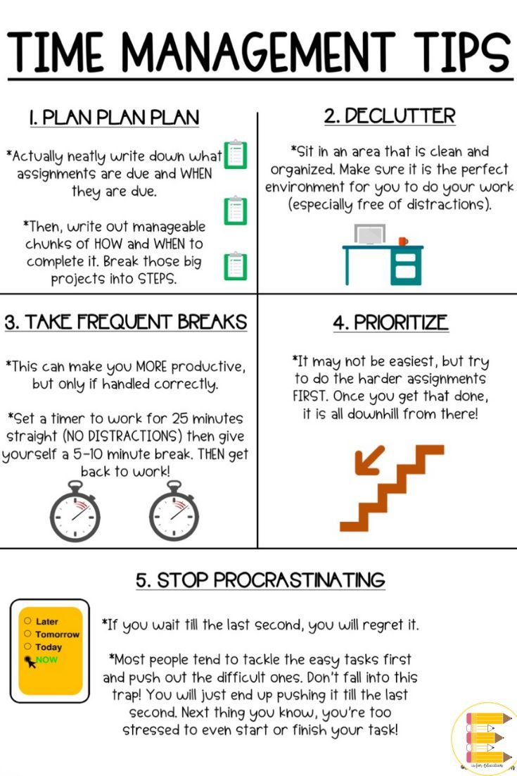 Do Your Students Struggle With Time Management I Had My Students Glue This In Time Management For Students Time Management Worksheet Effective Time Management