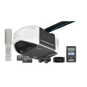 chamberlain 125 hp belt drive battery backup smartphone ready garage door opener with myq technology