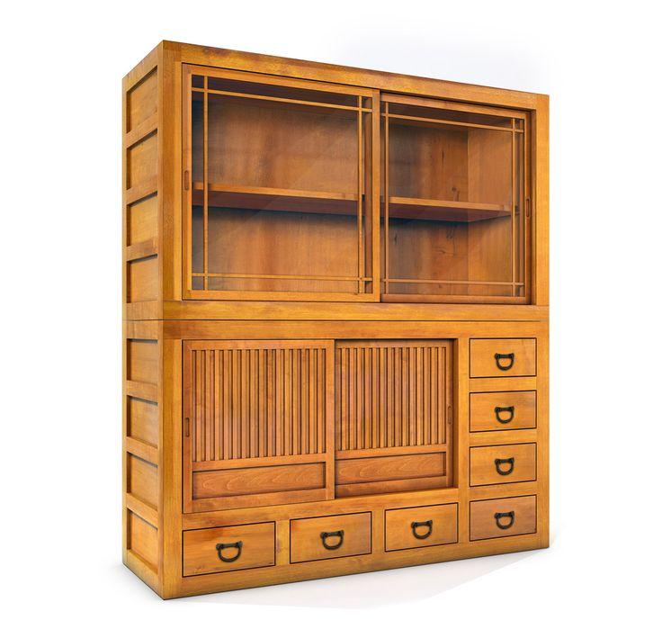 Mizuya kitchen hutch greentea design furniture for Amish free standing kitchen cabinets