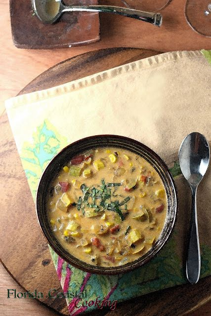 Wine Down Wednesday – Sweet Corn and Pattypan Squash Chowder | Florida Coastal Cooking