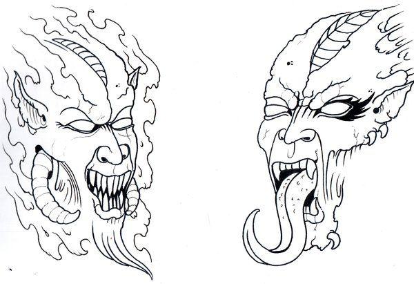 42 Best Demon Tattoo Outlines Images On Pinterest