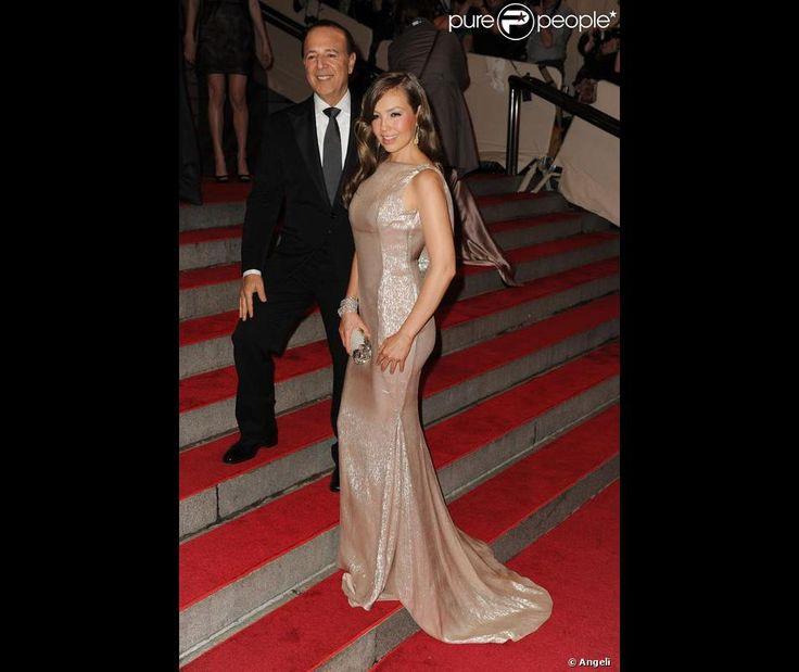 Tommy Mottola et sa femme Thalia lors d'une soirée au Metropolitan Museum à New York en mai 2010
