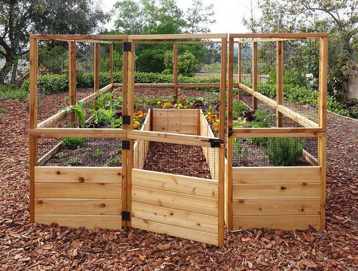 Toolfree, Cedar Raised Garden Bed Kits w/ Irrigation. We