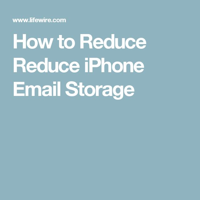 How to Reduce Reduce iPhone Email Storage