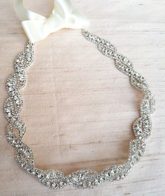 Rhinestone Wedding Dress Sash  S9 by bigrockbridal on Etsy, $49.00