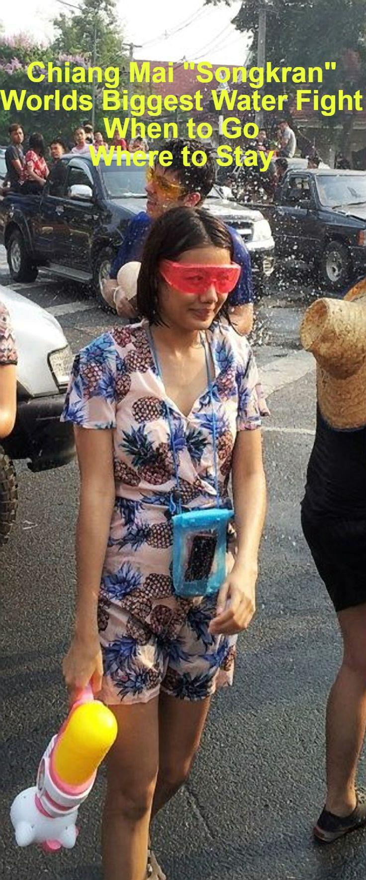 The Chiang Mai water fight: Songkran.