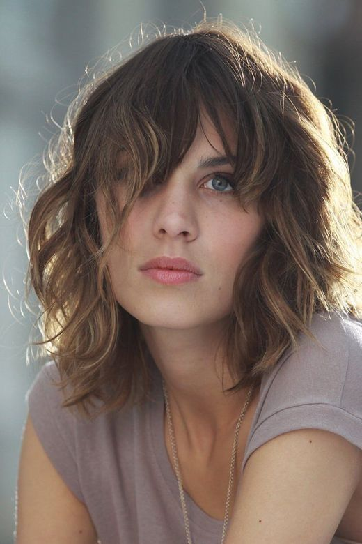 Beautiful Short Wavy Hairstyles This is so sexy. When I grow my hair long again…if I grow it long again. This might work.