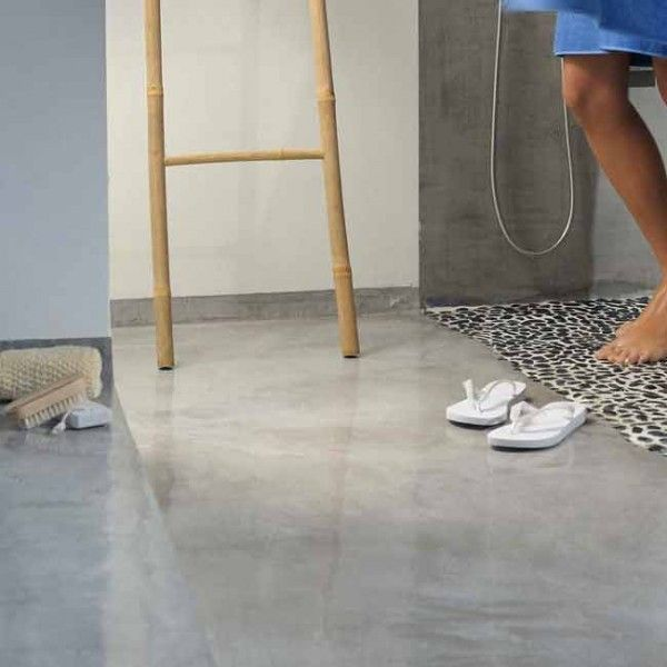 pavimento idee Microcemento : pavimento in microcemento- bagno in microcemento con-piatto-doccia ...