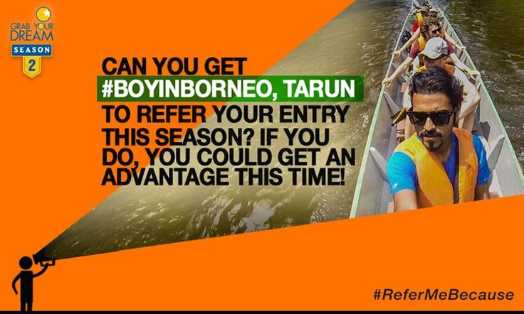 #BoyInBorneo, Tarun, is ready to refer one of you lucky contestants to the jury. Will it be you? Tell Tarun why you deserve an advantage in Season 2. T&C: http://cnk.com/T&CReferMeBecause