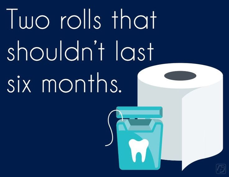 A normal roll of floss should last one person about a month.