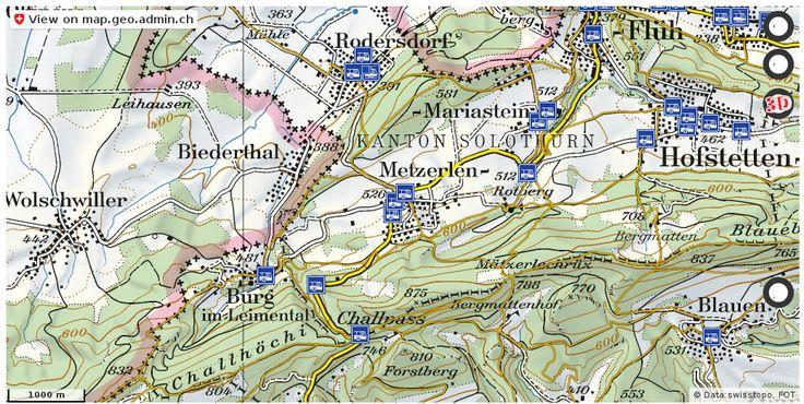 Metzerlen-Mariastein SO Wanderwege Karte trail http://ift.tt/2wv85kX #maps #mapOfSwitzerland