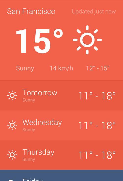 Hue Beautiful Weather Android Sam Ruston Météo 天気予報
