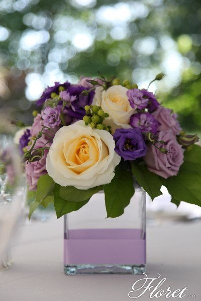 Best ideas about purple flower arrangements on