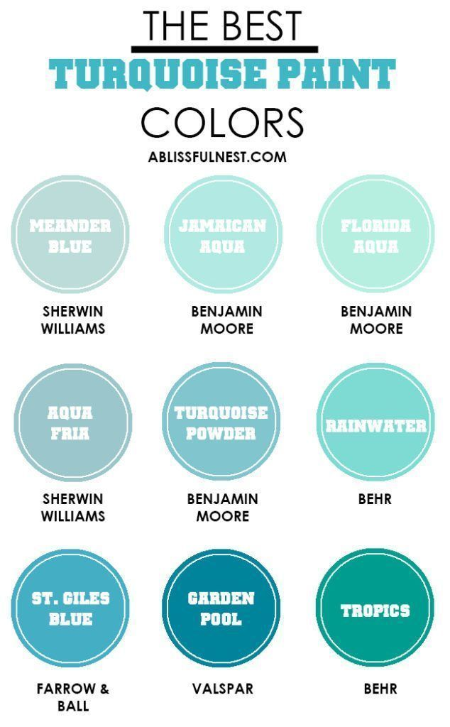 The Best Turquoise Paint Colors Ablissfulnest Paintcolors Turquoise Paint Colors Room Paint Colors Paint Colors For Home
