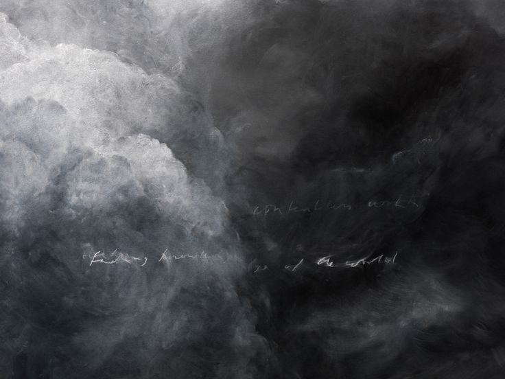 Tacita Dean's Blackboard Drawings - Detail from Sunset. Courtesy the artist