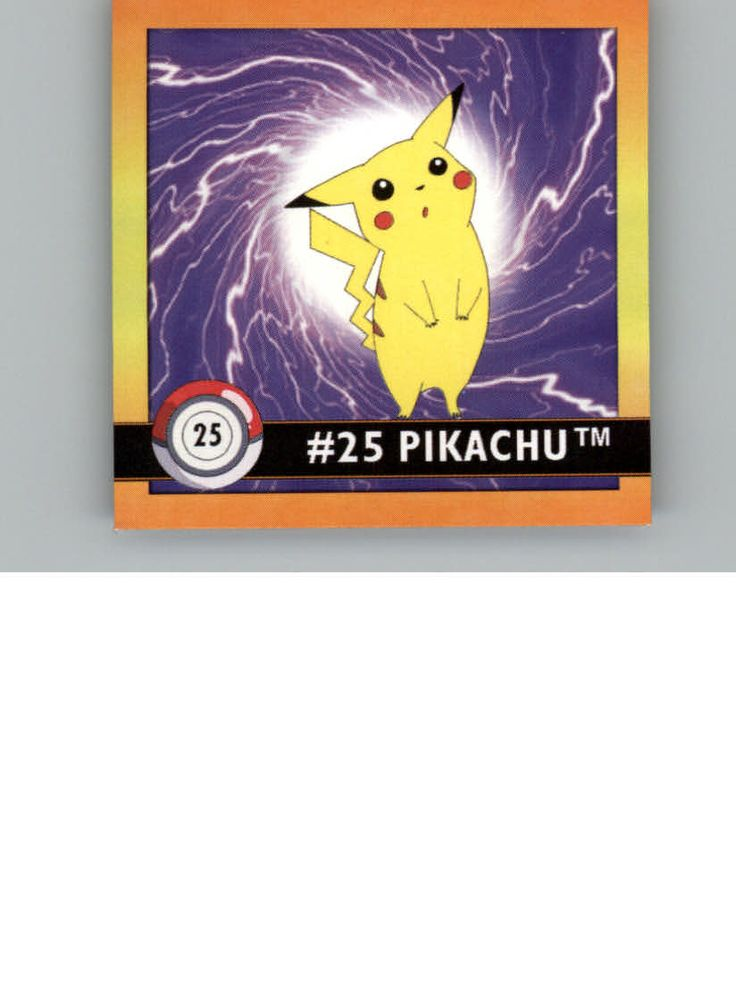 Shop Now 1999 Pokemon Stickers #25 Pikachu from Beckett  Shop 1999 Pokemon stickers #25 Pikachu from Beckett.com. This sticker is manufactured by Artbox & graded by Raw Grade. You can purchase this sticker at only $1.50. Subscribe to Pokemon price guide to get the latest and updated value of your pokemon cards. For more info visit: https://marketplace.beckett.com/item/1336/1999-pokemon-stickers-25-pikachu_87656100