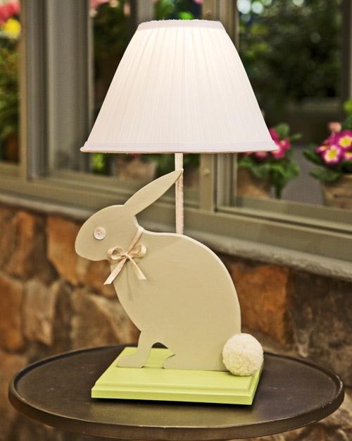 How to make baby bunny Nursery Lamp