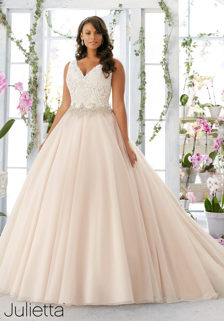 {Plus Size Wedding Gown of the Day} New Julietta Collection by Mori Lee | Pretty Pear Bride | Size 16W-32W