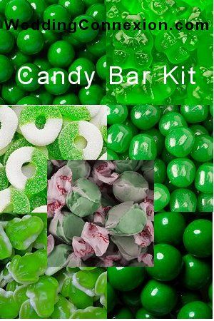 Budget-friendly green candy buffet candy kit.