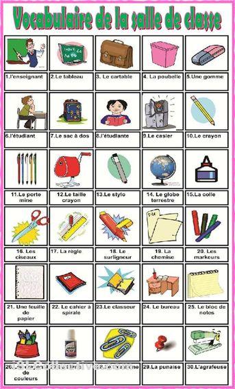 vocabulaire salle de classe