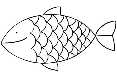 17 best images about poisson d 39 avril on pinterest mandalas fish and tissue paper - Dessin poisson simple ...