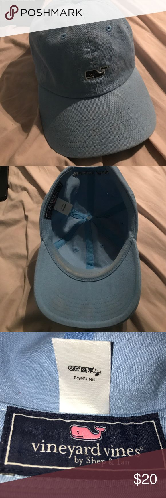 Vineyard Vines Blue Hat It is a blue vv hat in great shape! It is a baseball hat that can be adjusted to fit your head shape. A bit worn off in hat line, other than that its in great condition! Vineyard Vines Accessories Hats