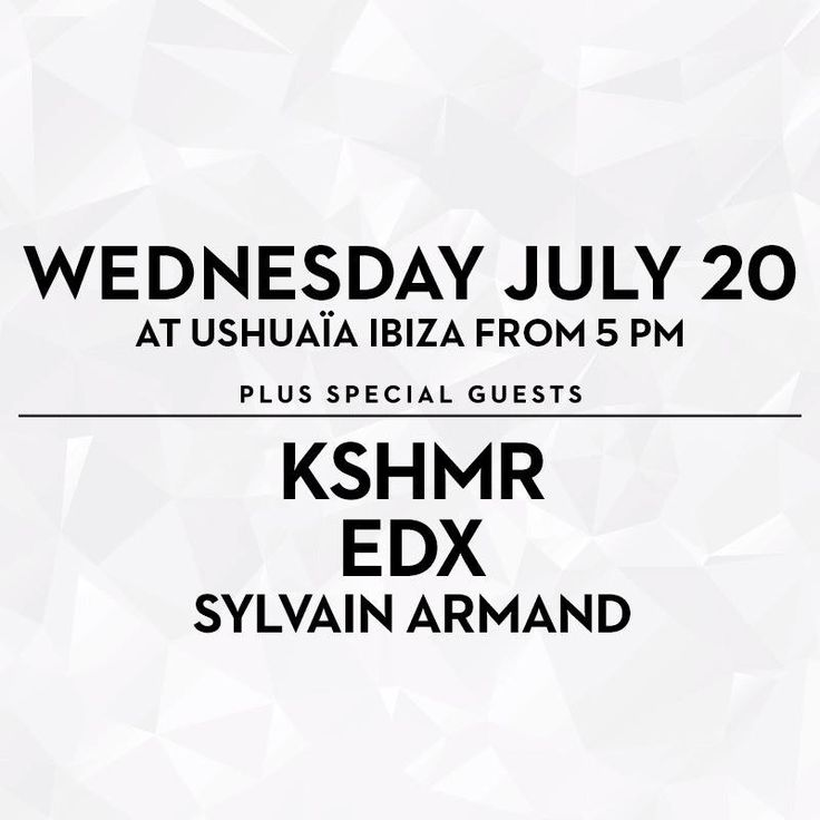 This week on Ibiza! We're bringing KSHMR, EDX and Sylvain Armand, see you there!