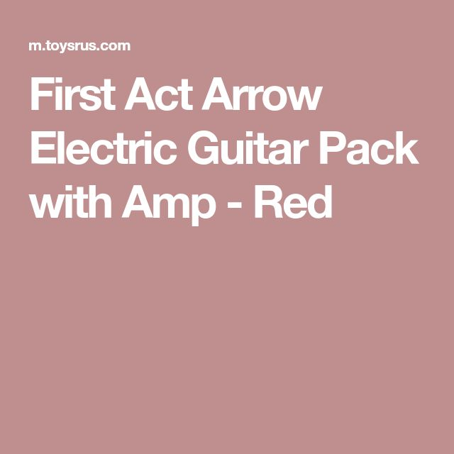 First Act Arrow Electric Guitar Pack with Amp - Red