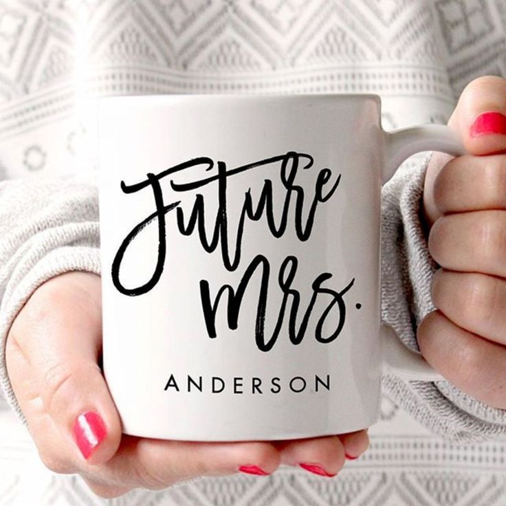 Adorable mug for bride to be - bride to be gifts - just got engaged gifts - what to buy someone who just got engaged - future mrs mug - cute engagement gifts {Zazzle}