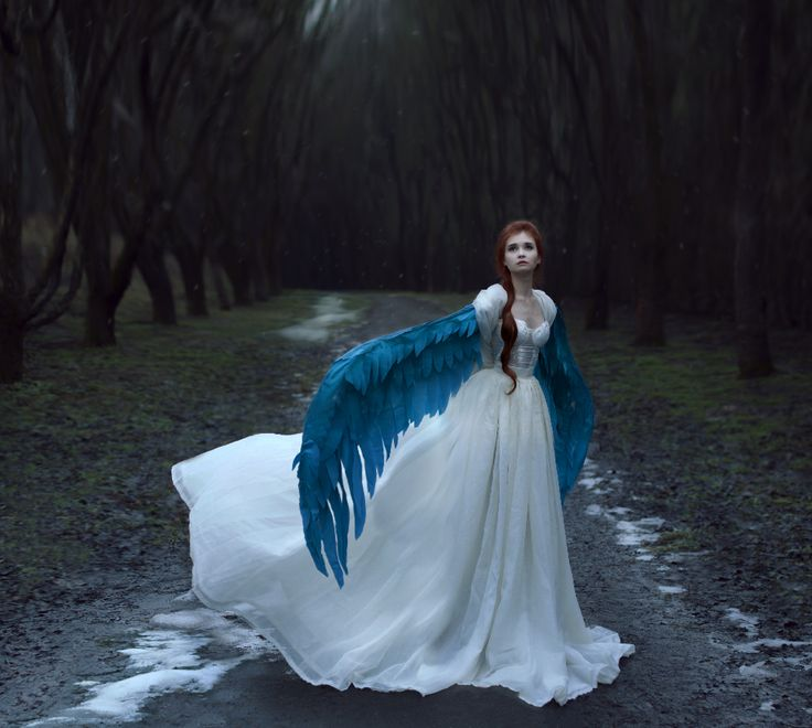 Принцесса Лебедь Принцесса Лебедь #moon  #Yana_Bobrykova #fairy #fairytale #girl #levitation #magic #fantasy #dress #air #gentle #romantic #wings #bird #photo  #lady #forest  #winter #cold #ice #hair #bluebird