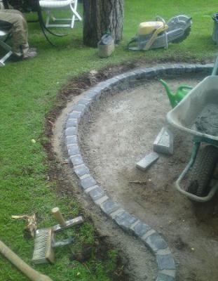 Granit Pflastersteine verlegen