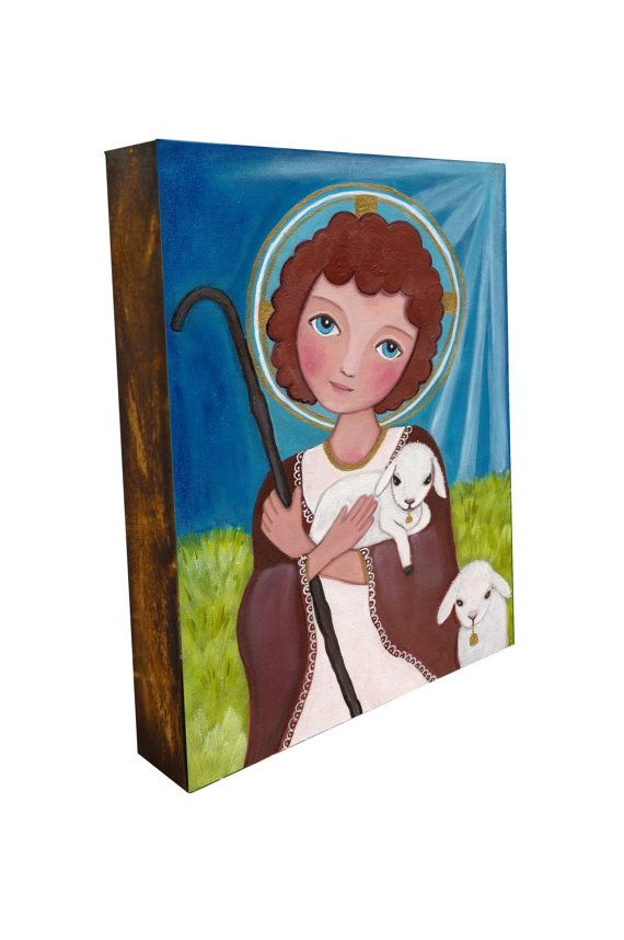 Jesus a Child  Print on Wood    6x8 inches 15x20 by Evonagallery, $30.00